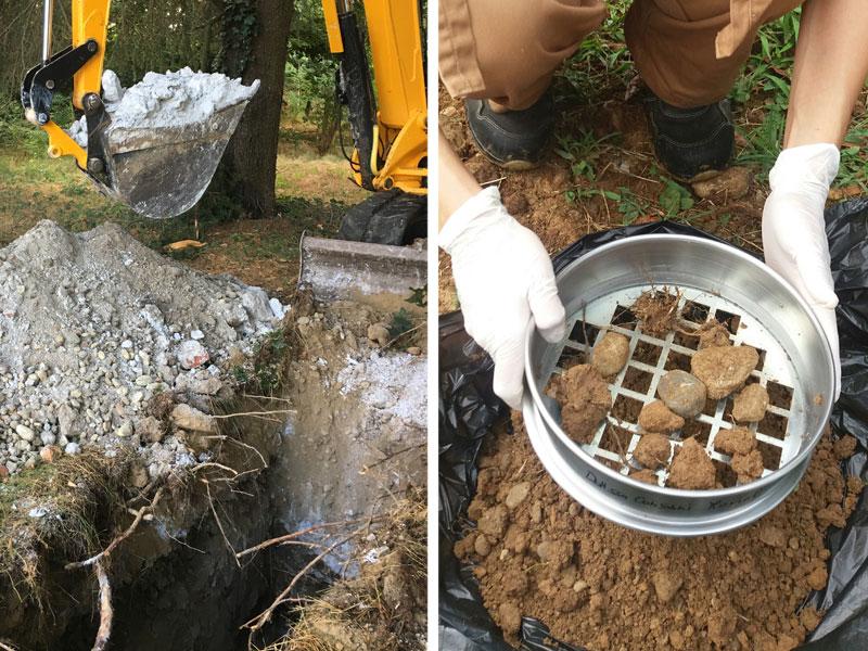 Campionamento terreni, terre e rocce da scavo